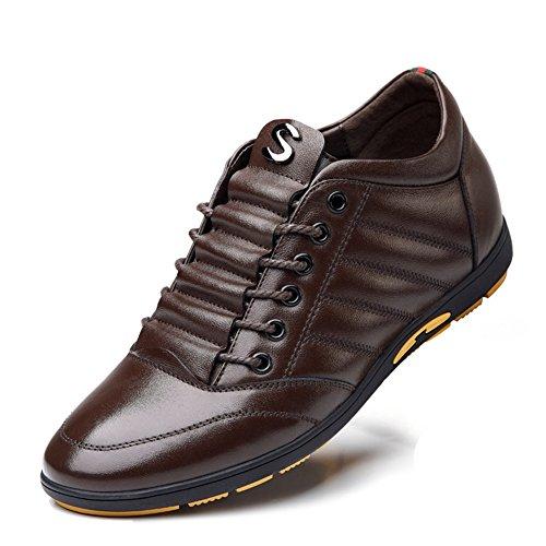Chaussure de ville homme hauteur cheville invisible chukka moderne derby confort escarpin soulier cuir commercial Brun