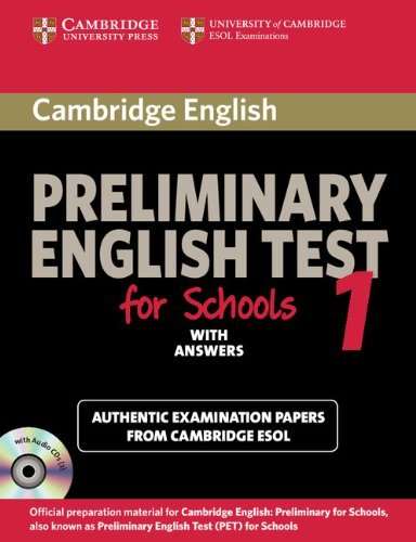 Cambridge Preliminary English Test for Schools 1 Self-study Pack (Student's Book with Answers with Audio CDs (2)): Official Examination Papers from ... ESOL Examinations (PET Practice Tests) by Cambridge ESOL (15-Apr-2010) Paperback