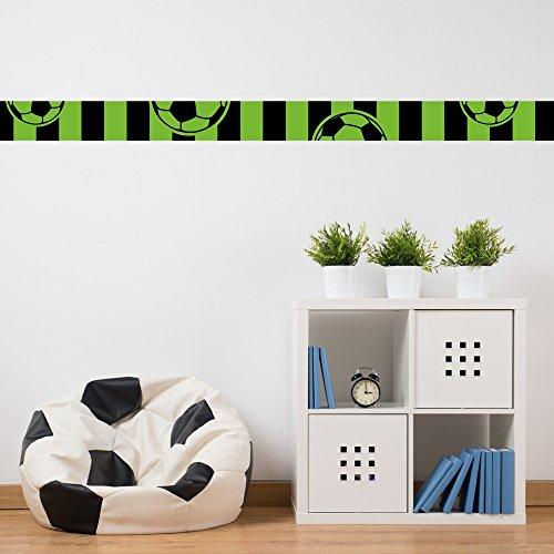 malango - Fußball-Bordüre schwarz grün