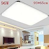 96W 8640lm Lámpara led de techo 93*65cm Blanco frío 6000-6500K Regulable Pasillo Salón Cocina Dormitorio