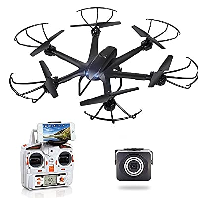 GoolRC X600 RC Hexacopter WiFi FPV Quadcopter Drone with Camera Live Video HD 720P Android/IOS APP Compatible with 3D VR Headset with One-Key Return & Headless Mode & 360 Degree Flips Roll