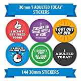 Adult Reward Stickers - 144 30mm - 6 different designs - Funny Adult Motivation