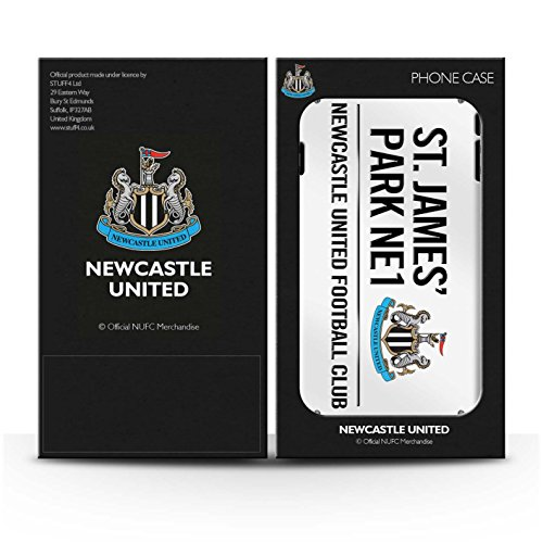 Offiziell Newcastle United FC Hülle / Glanz Snap-On Case für Apple iPhone 5/5S / Pack 6pcs Muster / St James Park Zeichen Kollektion Weiß/Schwarz
