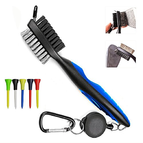 pilaaidou-golf-club-groove-cleaning-brush-spike-head-cleaner-nylon-and-iron-wire-dual-sided-bristles