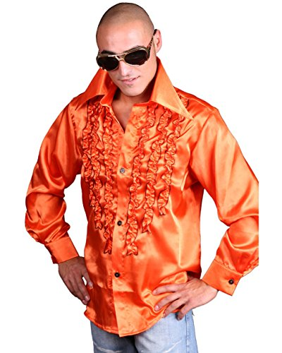 skostüme Schlagerhemd Orange, XL ()