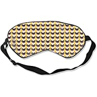 Natural Silk Eyes Mask Sleep Cute English Bulldog Blindfold Eyeshade with Adjustable for Travel,Nap,Meditation... preisvergleich bei billige-tabletten.eu