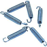 Qiilu 6 piezas Silenciador de acero inoxidable Tubo de escape ganchos de resorte para la motocicleta Scooter ATV(azul)