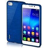 Huawei Honor 6 Hülle Silikon Blau [OneFlow Brushed