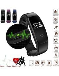 Fitness Tracker Armbanduhr Smart Watch, mit Herzfrequenz Monitor, wasserdicht IP67Smart Armband Schritt Tracker Schlaf Monitor Kalorienzähler Schrittzähler Armbanduhr für Android und IOS, Bluetooth Aktivität Tracker mit Anruf/SMS erinnern