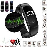 Fitness Tracker Armband Smart Watch Wasserdicht Ip67, Smart Bracelet Wristband Mit Herzfrequenz Damen Herren für Android und IOS, Bluetooth Aktivitätstracker Schrittzähler, Armbanduhr Schlafanalyse / Kalorienzähler, SMS Anrufe Reminder für Android und iOS