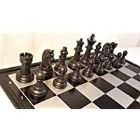 Chessebook - Ajedrez + Damas + Backgammon Tablero de 32 x 32 cm, magnético