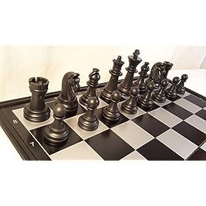 Chessebook – Ajedrez Damas Backgammon Tablero de 32 x 32 cm, magnético