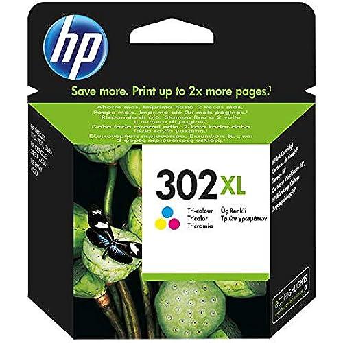 HP 302 XL F6U67AE Cartuccia Originale per Stampanti a Getto di Inchiostro, Compatibile con DeskJet 1110, 2130 e 3630, HP OfficeJet 3830 e 4650, HP ENVY 4520, Tricromia