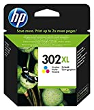 HP 302 XL F6U67AE Cartuccia Originale per Stampanti a Getto di Inchiostro, Compatibile con DeskJet 1110, 2130 e 3630, HP OfficeJet 3830 e 4650, HP ENVY 4520, Tricromia