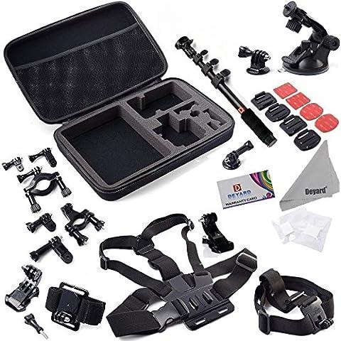 Deyard ZG-64730Accessori Kit di montaggio per GoPro HD Hero Serie, colore: bianco
