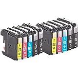 10 Pack WonderTec Tintenpatrone Brother LC223 (4BK+2C+2M+2Y) Kompatibel für DCP-4120DW/MFC-J4420DW/MFC-J4620DW/MFC-J4625DW/MFC-J5320DW/MFC-J5620DW/MFC-J5625DW/MFC-J5720DW