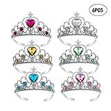 Wenosda 6pcs Habiller Tiara Crown Set Princesse Costume Party Accessoires pour Enfants / Fille / Enfant en Bas âge (Jaune + Bleu + Vert + Rose + Blanc + Rouge)