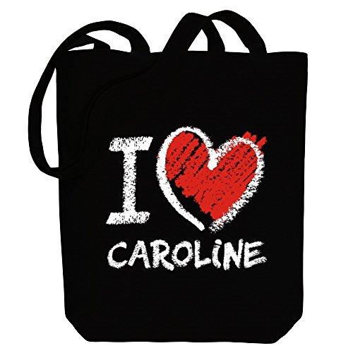 Caroline Leinen (Idakoos I love Caroline chalk style - Weibliche Namen - Bereich für Taschen)
