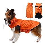 SUPEREX® Pet Dog Coat Jacket Hund costüm wasserdicht Hundepullover Hundemantel, Regenjacke Regenmantel Winterjacke Hundebekleidung Hundejacke winter Warm Wintermantel Hundemantel für kleine mittlere große Hunde (Orange, XL)