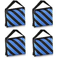 Neewer® Kit de 4 Negro/Azul Bolsa de Arena para Tareas Duras de Estudio Fotográfico Plataforma Cine para Brazo Jirafa Trípode Soporte de Luz