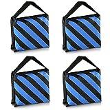 Neewer Set mit 4 schwarzen und blauen strapazierfähigen Sandtaschen für Fotostudio, Videostudio,...