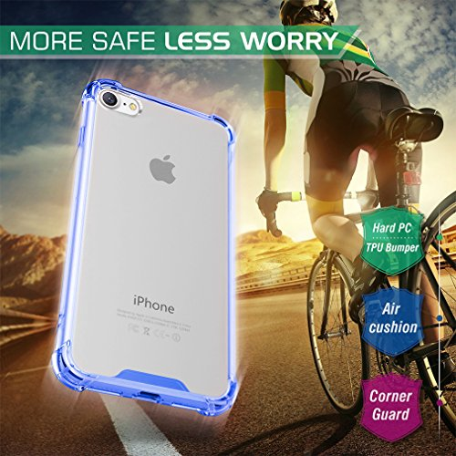 FIRST2SAVVV Nero iPhone 7 plus 5.5 Shock Assorbente Custodia, Apple iPhone 7 plus Case Custodia Shock-Absorption Bumper Cover e Anti-Graffio - XJPJ-I7-5.5-C01 blu