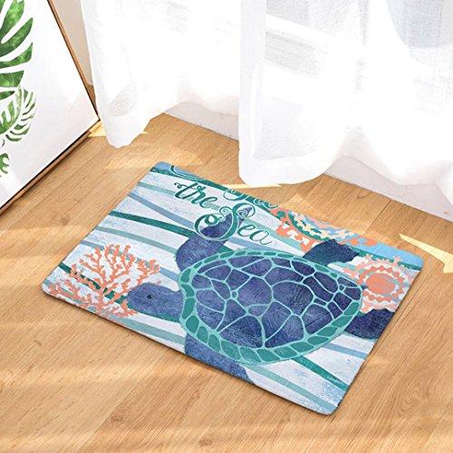 YJYdada Ocean Shell Home Rutschfeste Tür Bodenmatten Hall Teppiche Küche Badezimmer Teppich Deco...