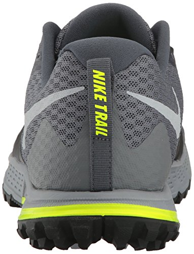 Nike Air Zoom Wildhorse 4, Scarpe da Trail Running Uomo Grigio (Dark Grey/wolf Grey-black-stealth 001)