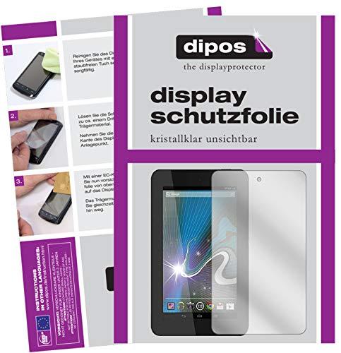 dipos I 2X Schutzfolie klar kompatibel mit HP Slate 7 Folie Bildschirmschutzfolie