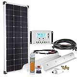 Offgridtec Premium-L 100W 12V Wohnmobil Solaranlage 002710 mit 20A Laderegler und LCD Display