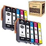 Hehua 26XL kompatibel Tintenpatrone für Epson 26 26XL Ersatz für Epson Expression Premium XP-520 XP-610 XP-510 XP-800 XP-600 XP-700 XP-710 XP-810(2 Schwarz, 2 Photoschwarz, 2 Cyan, 2 Magenta, 2 Gelb)