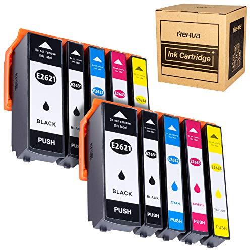 Hehua 26XL kompatibel Tintenpatrone für Epson 26 26XL Ersatz für Epson Expression Premium XP-520 XP-610 XP-510 XP-800 XP-600 XP-700 XP-710 XP-810(2 Schwarz, 2 Photoschwarz, 2 Cyan, 2 Magenta, 2 Gelb) -