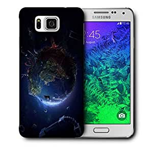Snoogg Animated Earth Printed Protective Phone Back Case Cover For Samsung Galaxy SAMSUNG GALAXY ALPHA