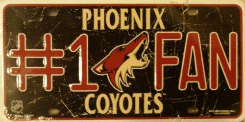 Unbekannt NHL # 1Fan Metall Tag License Plate, rot -