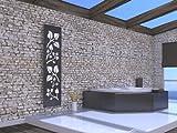Badheizkörper Design Leaves 3, HxB: 180 x 47 cm, 1118 Watt, weiß / dunkelgrau (metallic) (Marke:...