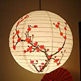 Bazaar 35CM Lamp Shade Paper Lantern Light Chinese Bamboo Plum Blossom Oriental Decor