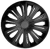 NRM Strong Radzierblenden Strong 4 x Universal Radkappen 4er Set Schwarz Matt (14')