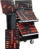 detec. Chariot Royal Edition Noir–7tiroirs/5rembourré avec outils