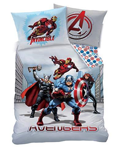 Marvel Juego de Funda de edredón y Funda de Almohada Avengers City UK Individual/US Doble sin Relleno