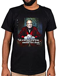 Ulterior Clothing Hugh Hefner Life Too Short Quote Graphic T-Shirt