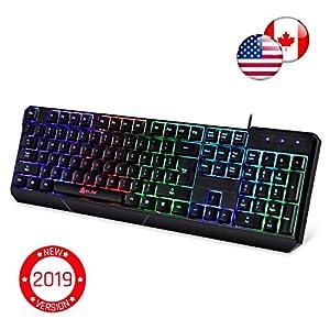 ⭐️KLIM™ Chroma Tastatur Gamer mit USB Kabel – Hohe Leistung – bunte Beleuchtung ( Schwarz ) RGB PC Windows, Mac PS4 [ Neue Version ]