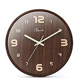 CZM ZHB wanduhr Wanduhr stumm Uhr für Wohnzimmer und Schlafzimmer Massivholz Nussbaum Farbe