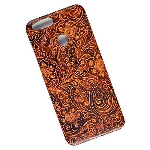 Tooled Leather Look. Slim Phone Case for Huawei Honor 7X / Mate SE -