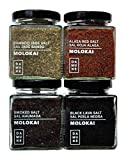 Sales Gourmet Molokai-Hawai: Sal Perla Negra Molokai (200g), Sal Roja-Alaea Molokai (200g), Sal Jade Bambú Hawai / Molokai - 200g, Sal Ahumada Molokai (200g)