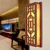 WLL Im chinesischen Stil Lights Restaurant unsichtbar kleinen Echtholz Massivholz Fußboden Studie Schlafzimmer nacht Tischleuchte Wandleuchte lesen