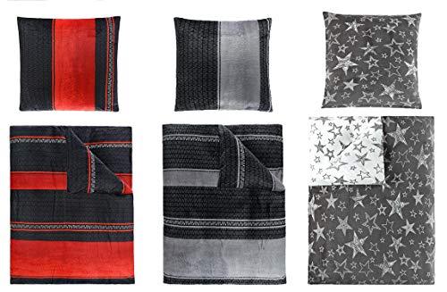 Winterbettwäsche Cashmere Touch, ähnlich Nicky Teddy Corals Fleece, in 2 Größen und 3 Designs 4tlg Set 135x200 cm Bernhard Silber