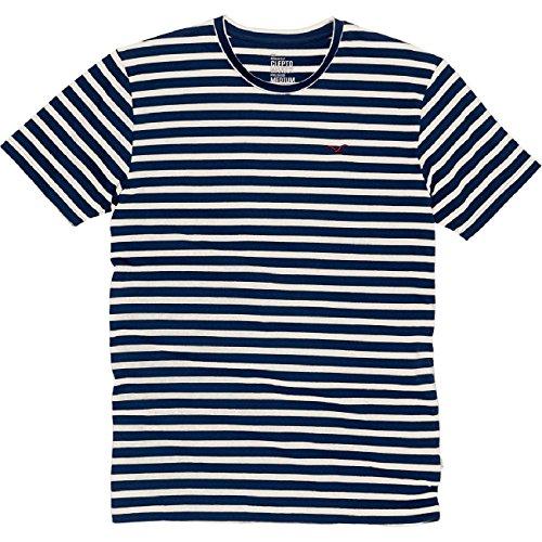 Cleptomanicx Classic Stripe 2 T-Shirt Dark Navy