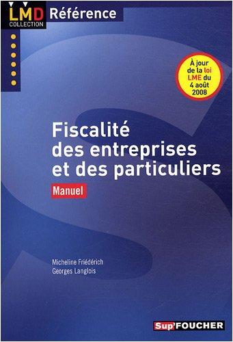 Fiscalité des entreprises et des particuliers : Manuel