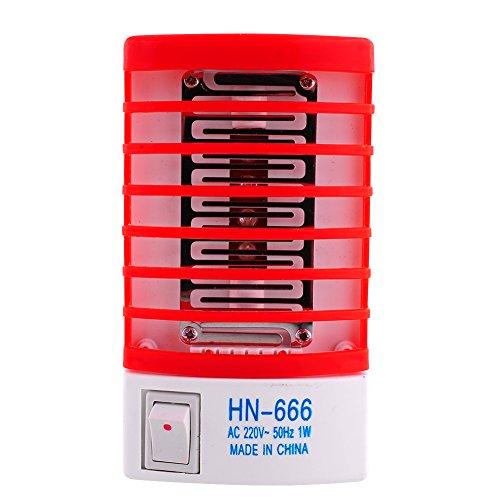 Gladle LED-Steckdose elektrisch Moskito-Fliegen-Wanzen-Insekt-Falle-Nachtlampen-Mörder Zapper Repellent (Bug Repeller Elektrische)