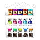 Portaspezie Scroll Spice decorativi parete 3Tier Appeso A Parete Kitchen Spice Rack bianco